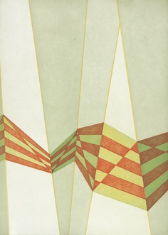 Tomma Abts, Untitled(diagonals), 2009.  color aquatint with soft ground etching on paper