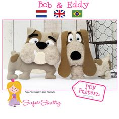PDF pattern Bob & Eddy felt pattern for a dog by by SuperSkattig
