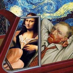 Vincent van Gogh and the Mona Lisa are much closer than we are . - Vincent van Gogh and the Mona Lisa are much closer than we previously thought. Vincent Van Gogh, Memes Arte, Art Memes, Paintings Famous, Classic Paintings, Funny Paintings, Famous Artists, Arte Pop, Art Inspo