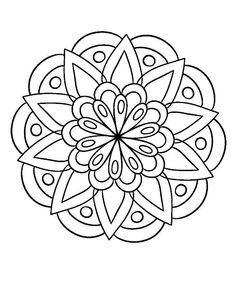 Easy coloring pages, mandala coloring pages, coloring sheets, coloring books, mandala tattoo Mandala Art, Mandala Design, Mandalas Painting, Mandalas Drawing, Dot Painting, Mandalas To Color, Doodle Patterns, Zentangle Patterns, Mandala Pattern