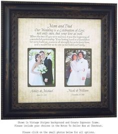 Parent Wedding Gift Mother of the Groom Gift Mother of the