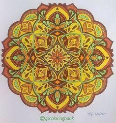 ColorIt Mandalas Volume 1 Colorist: Valerie (@vjscoloringbook) #adultcoloring #coloringforadults #adultcoloringpages #mandalas #mandalastocolor