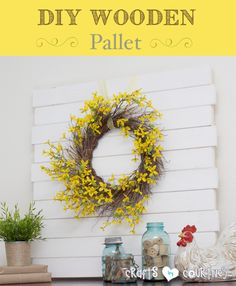 Really easy to make. I could even do it while on leave. All the lumber cost only $12. Good for spring decor and summer-y/beach decor.