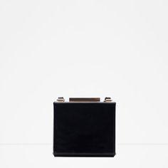ZARA - WOMAN - PATENT FINISH BOX CLUTCH
