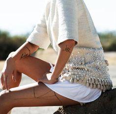 seater cardigan studs glitters beige white style fashion
