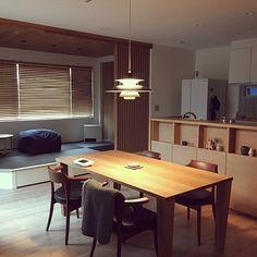 My Desk,無印良品,ルイスポールセン,ウッドブラインド,畳コーナー,クリッパン,格子,カンディハウス,名古屋モザイク,飛騨産業,リシェルSI,Dフロア メープルのインテリア実例 | RoomClip (ルームクリップ)