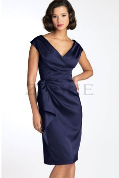 Stylish Glamorous & Dramatic Informal & Casual Satin Cocktail Dress