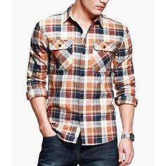 Camisa Xadrez. Clique e confira vários modelos em #PROMOCAO  http://www.camisariarg.com/camisa-xadrez-masculina-14-50-n-laranja.html