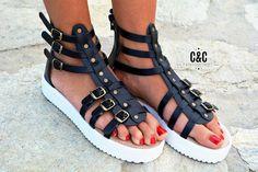 Femmes cuir sandale gladiateur wild edition des par ccfashionstr