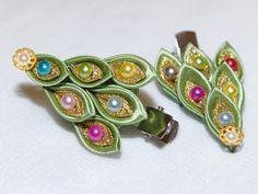 hearband hair-accessories Kanzashi handmade Flowers by zavituwka