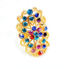 2014 Fashion Romantic Colorful Crystal Rings For Women On Sale,Free Shipping And No Min Order! $4.00