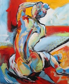 Expressionism painting Inspiration - Nude Painting UnNamed by Texas Artist Laurie Pace by artist Laurie Justus Pace, on DailyPainters com. Figure Painting, Painting & Drawing, Painting Inspiration, Art Inspo, Feminist Art, Erotic Art, Figurative Art, Female Art, Love Art