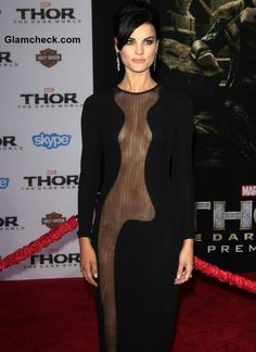 Skin Show- Jaime Alexander in Very Revealing Sheer Dress