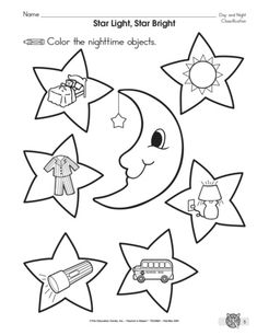 8c920e1c4fc25c0653f75f5768cc5f8d the mailbox star lights day and night worksheet lesson planet day & night pinterest on day and night worksheet