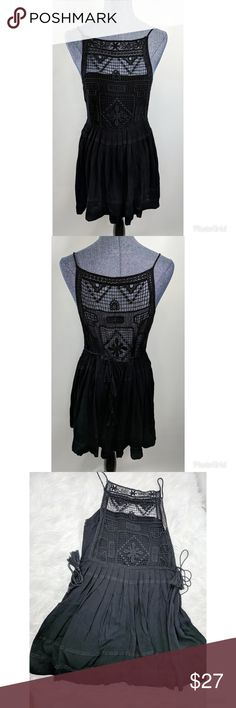 Black Lulus crochet Dress #99 Super fun dress  Prefect for any occasion  Previously Loved    Always open to offers  I ship Fast Inventory #99 Lulu's Dresses Mini