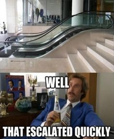 funeeee  well that escalated quickly stairs