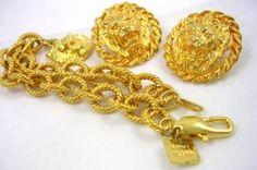 Anne Klein Bracelet and Pierced Earrings Set