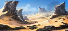 Resultado de imagen para environment artwork desert