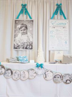 Winter ONE-derland Birthday Party Ideas | Photo 1 of 28 | Catch My Party
