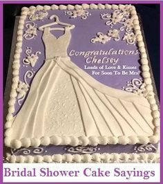 image result for bridal shower cake sayings