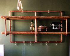 Copper pipe shelving unit