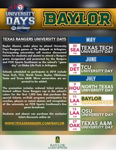 #Baylor Night at the Texas Rangers -- July 11, 2014