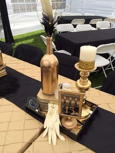 40 great gatsby wedding centerpieces ideas 1