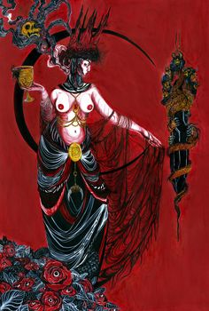 "impfaust: ""Therefore I prayed, and understanding was given me…"" Artwork: ""Babalon"" by Lupe Vasconcelos."