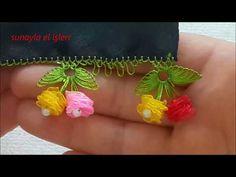 YouTube Saree Tassels Designs, Saree Kuchu Designs, Hand Embroidery Flowers, Silk Ribbon Embroidery, Nylon Flowers, Fabric Flowers, Band Kunst, Flower Video, Brazilian Embroidery