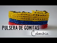 Pulsera de Gomitas de Colombia con 2 Tenedores - YouTube Youtube, Bracelets, Jewelry, Paper, Loom Bands, Hardware Pulls, Flags, Ear Studs, Colombia