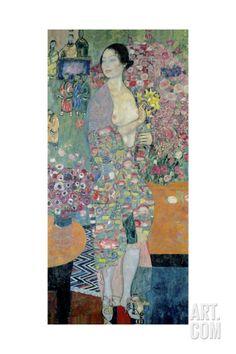 The Dancer, Ca 1916-1918 Giclee Print by Gustav Klimt at Art.com
