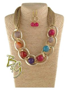 Colorful and large statement necklace