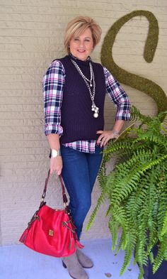Fashion over 40  How to wear a sweater vest