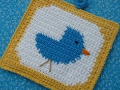 Bluebird Potholder