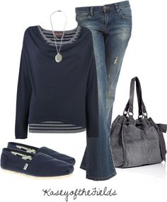 grey and blue outfit, winter colors, fall outfits, beauti, closet, casual outfits, shoe, blues, bags