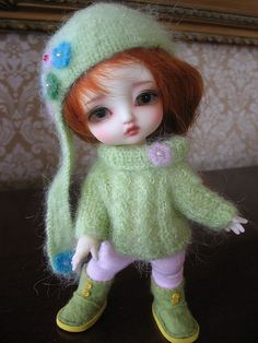 Luts Tiny Delf Alice Clothes Crafts, Doll Clothes, Yellow Clothes, Knitted Dolls, Bjd Dolls, Cute Dolls, Pretty Little, Harajuku, Crochet