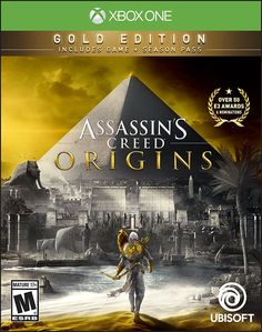 Assassin's Creed Origins Game Cover Xbox One Gold