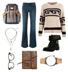 """""""Indie Winter"""" by madisonbelle891011 on Polyvore featuring Boohoo, 7 For All Mankind, Refresh, Mr.ace Homme, Betsey Johnson, Komono, TOMS and Madewell"""