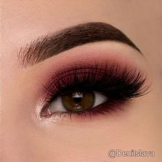 """Denitslava on Instagram: """"Quick tutorial on a maroon smokey eye To create this look I used: @makeupgeekcosmetics shadows : """"bitten"""" all over my eyelid and I…"""""""