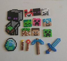 Ensemble de perler de Minecraft