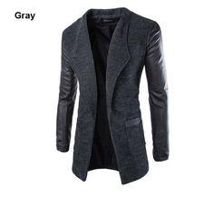 Outerwear Type: Wool & Blends Gender: Men Clothing Length: Long Closure…
