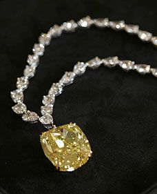 The Graff Dream Diamond' - A stunning bright yellow 100-carat diamond; experts estimate it could be worth as much as £13 million. Currently the stone, which is a…