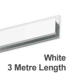 White Powder Coated Hanging Track - 3 Metre Lengths