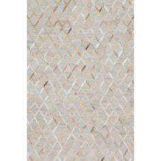 Dorado Hand-Woven Cowhide Beige/Gray Area Rug
