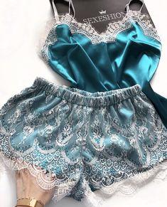 Атласная пижама с кружевом – заказать на Ярмарке Мастеров – H32U1RU | Белье, Артем