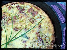 Bacon Potato and Leek Fritata