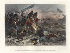 Death of Pakenham at the Battle of New Orleans Battle Of New Orleans, Louisiana History, War Of 1812, American Revolutionary War, Old Things, Death, Painting, Art, War