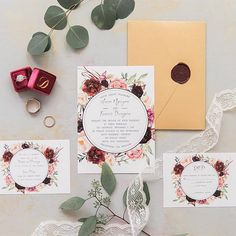 Refined Burgundy and Marsala Wedding Color Ideas for Fall Brides Laser Cut Wedding Invitations, Rustic Invitations, Wedding Invitation Cards, Cheap Invitations, Invitation Templates, Neutral Wedding Colors, Chicago Wedding Venues, Autumn Bride, Inexpensive Wedding Venues