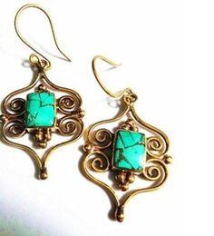 Brinco Artesanal Sol do Tibet   Brinde= uma linda joia em prata,nas compras acima de R$200,00, na Leona Secrets