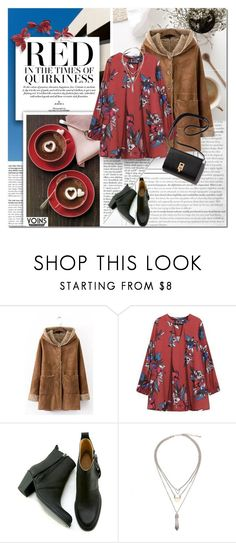 """""""Red"""" by purpleagony on Polyvore featuring Gargyle, boho, Bohemian, bohochic, shearlingcoat and yoins"""